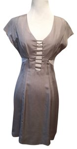 Leyendecker Cocktail Gray Cut-out Dress