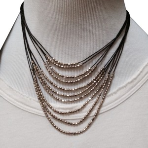 Other Silver Beaded Layered Necklace