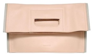 Jil Sander Neutral Convertible Blush pink/Gray Clutch