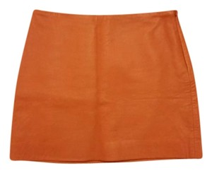 Club Monaco Mini Skirt Orange