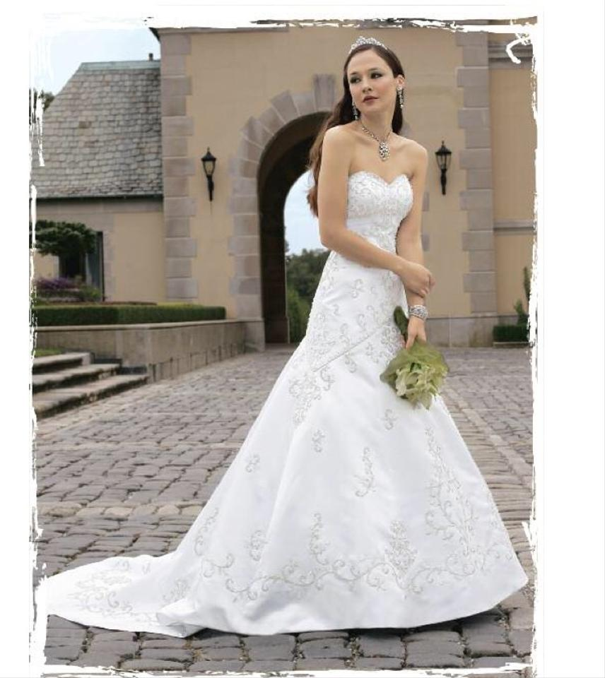 Heavily beaded sweetheart gown wedding dress tradesy for Christian michele wedding dress