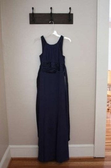 Preload https://item1.tradesy.com/images/david-s-bridal-navy-chiffon-and-charmeuse-polyester-rounded-neckline-style-f12732-formal-bridesmaidm-159510-0-0.jpg?width=440&height=440