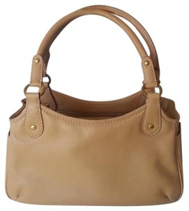St. John Handbag Leather Satchel in Camel