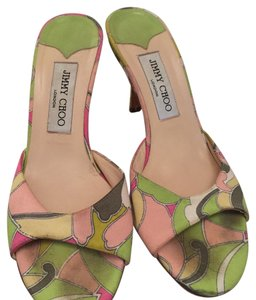 Jimmy Choo Multi - pink, green, white Sandals