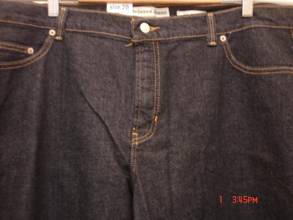 3c794a426e486 Old Navy Dark Blue Rinse At Waist Denim X 31 Relaxed Fit Jeans. Size  20 ...