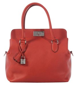 Hermès Brick Red Hr.k0505.02 Evercolor Leather Satchel