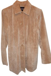 Bernardo Suede Fully-lined Size M / 10 Pet+smoke Free sand (tan) Blazer