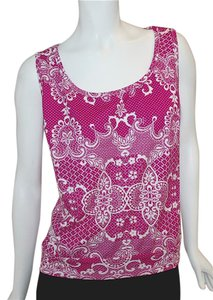 Grayse Top Pink/White