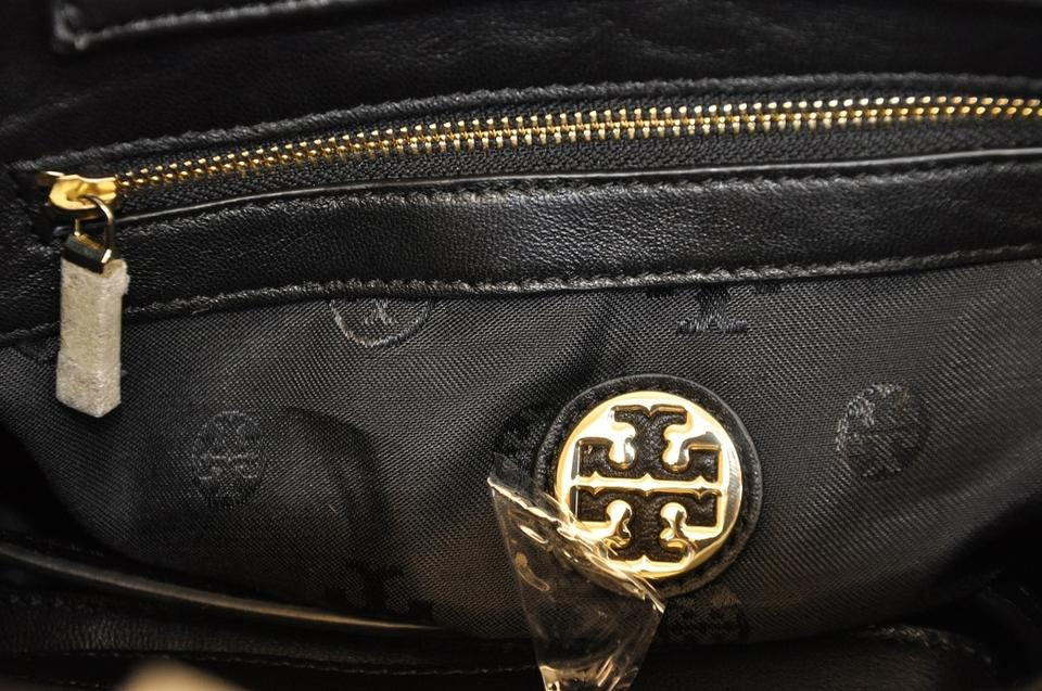 a40517aa4df Tory Burch Fleming New with Tag Mini Black Lambskin Leather Satchel ...