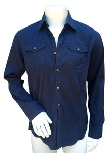 Hugo Boss Mens Dress Shirt Button Down Shirt blue