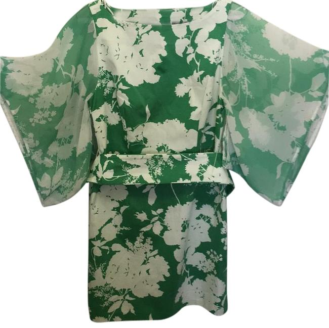 Preload https://img-static.tradesy.com/item/15953599/oasis-green-white-kimono-above-knee-night-out-dress-size-8-m-0-1-650-650.jpg