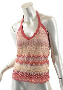 M Missoni M Halter Signature Weave Multi Color Halter Top