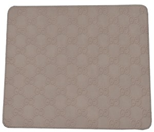 Gucci NEW Gucci 197216 Light Cream GG Guccissima Leather Mouse Pad