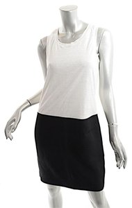 Max Mara short dress Black & Ivory Linen Knit on Tradesy