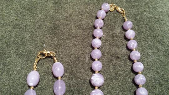 Joan Rivers Set of 2 Lavender Bead Necklaces