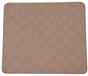 Gucci NEW Gucci 197216 Light Beige GG Guccissima Leather Mouse Pad