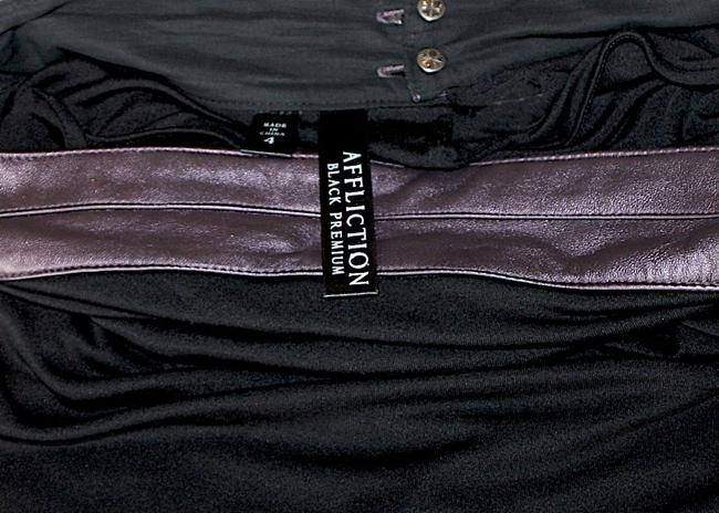 Affliction Strapless Sexy Top Black/Purple