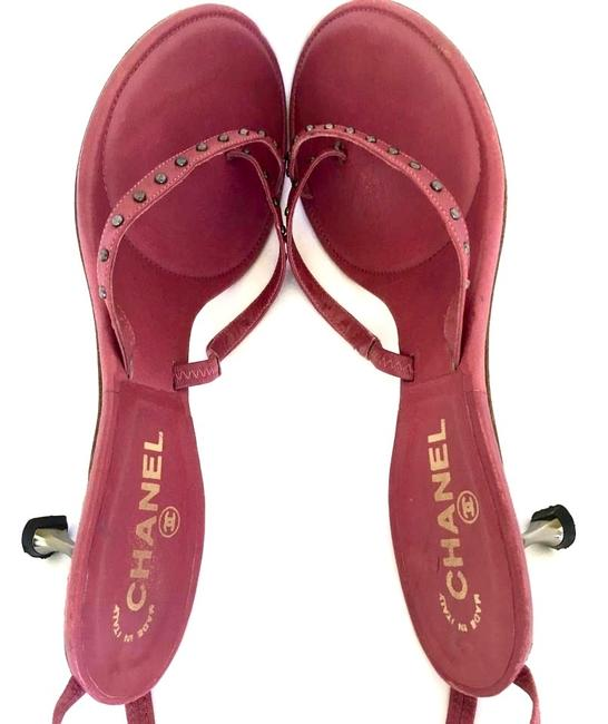 Chanel Dusty Rose Pink Mauve Lace-up Kitten Heel Leather Lace Up Sandals Size EU 38.5 (Approx. US 8.5) Regular (M, B) Chanel Dusty Rose Pink Mauve Lace-up Kitten Heel Leather Lace Up Sandals Size EU 38.5 (Approx. US 8.5) Regular (M, B) Image 5