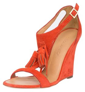 Dsquared2 2 Suede Pumps Sandals Orange Wedges