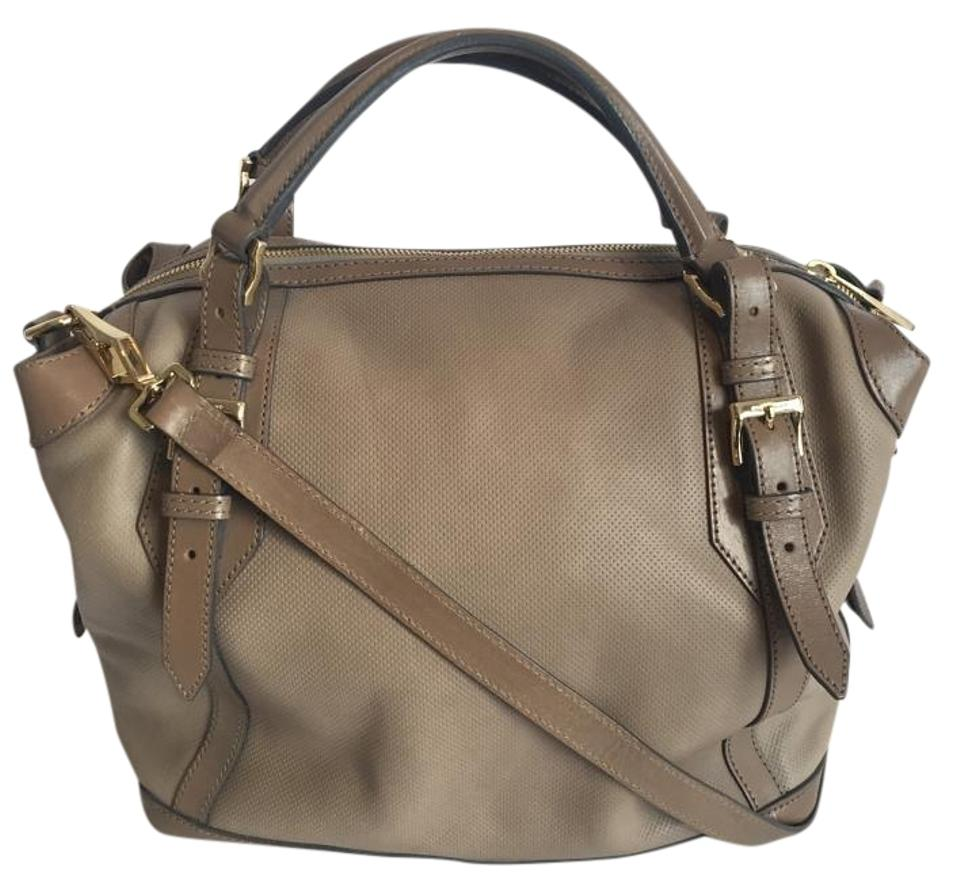 a95c7afa8ee7 Burberry Ellers Perforated City Taupe Leather Tote - Tradesy