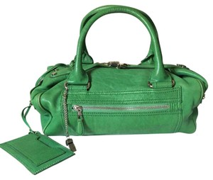 Balenciaga Agneau Leather Lambskin Satchel in Green