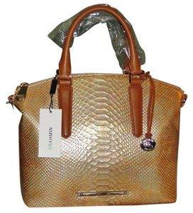 Brahmin Satchel in Fire Opal