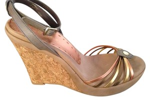 BCBGeneration Tri-colored Metallic Wedges