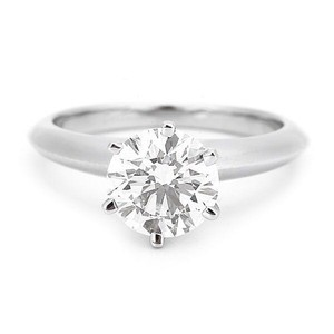 Tiffany & Co. Platinum Diamond Engagement Ring Pt950 1.07ct If Size 7