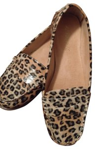 Aerosoles Shiny Loafers Leopard Flats