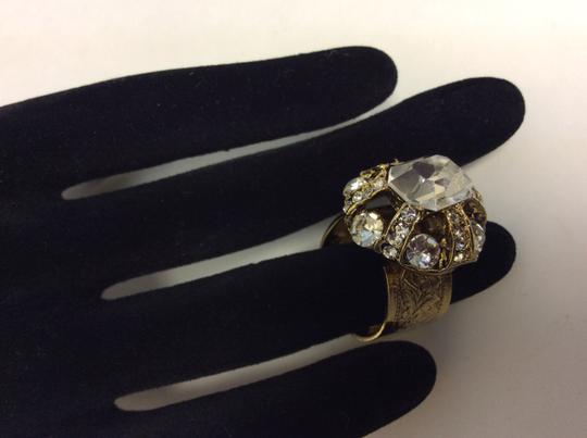 Other Clear Swarovski Crystals Articulated Antique Gold Ring