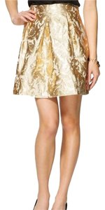 Pim + Larkin Mini Skirt gold and cream