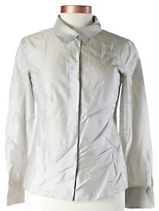 Max Mara Silk Button Down Shirt Pearl