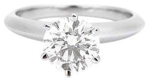 Tiffany & Co. Round Diamond Engagement Ring 1.01CT VS1 D S US 7 EU 54