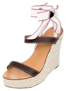 Dsquared2 2 Genuine Leather Espadrilles Brown Sandals