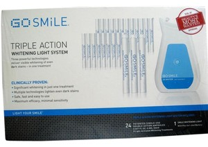 Go Smile GO SMILE WHITENING LIGHT SYSTEM FOR EIGHT (8) LIGHT WHITENING TREATMENTS. 24 AMPOULES.NEW IN SEALED BOX