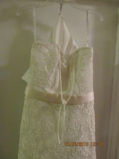 Mary's Bridal Ivory Lace Vintage Wedding Dress Size 12 (L)