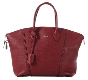 Louis Vuitton Pm Lv.k0428.10 Red Taurillion Leather Satchel