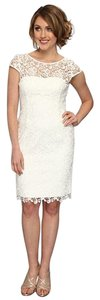 Adrianna Papell Lace Sheath Knee Length Dress