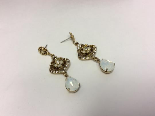 Other Opalite Teardrop Antique Gold Post Earrings