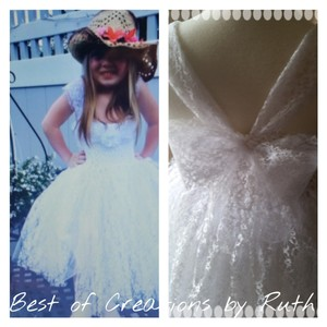 White Tutu Flower Girl Dress Dress