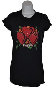 Ed Hardy Tattoo Jewels T Shirt Black