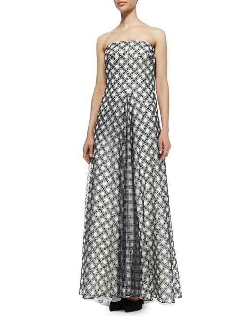 Black and white Maxi Dress by Tadashi Shoji Spring Summer Formal Gown