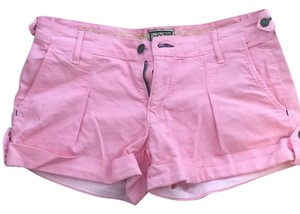 Rich & Skinny Summer Color-blocking Preppy Cuffed Shorts Pink