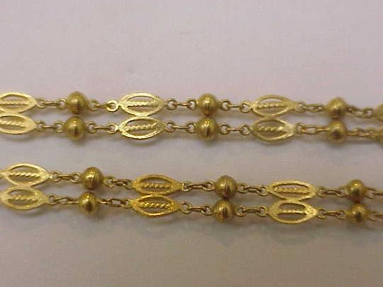 Other Ladies Estate Vintage 16 Inches-Pure 20-22kt Yellow Gold Chain Ornate Filigree Necklace
