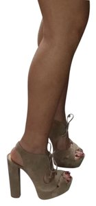 SCHUTZ light brown / nude Platforms