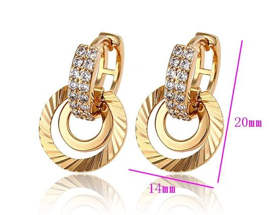 losangelesbeads Leverback Ribbed Gold Filled Beauty Earrings