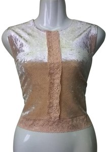 Lisa Nieves Casual Sleeveless Formal Top peach / silver