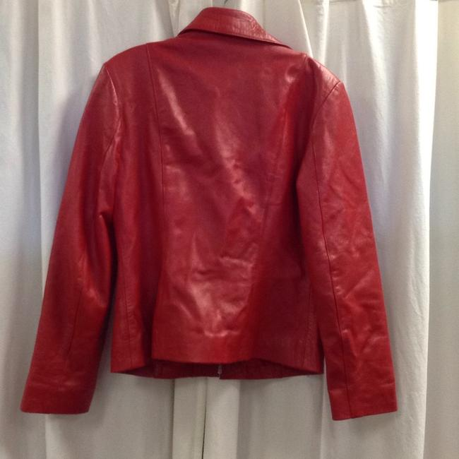 L'Equipe Italy Red Leather Jacket