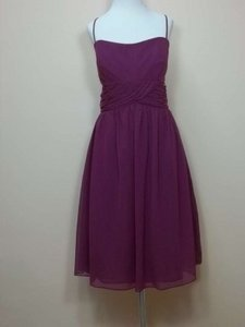 Alfred Angelo Berry Chiffon 7018 Formal Bridesmaid/Mob Dress Size 14 (L)