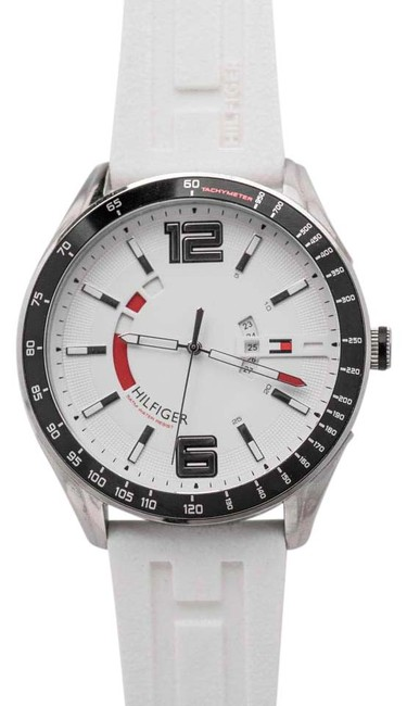 Tommy Hilfiger White Tachymeter Th.159.1.14.1126 - 48mm Watch Tommy Hilfiger White Tachymeter Th.159.1.14.1126 - 48mm Watch Image 1